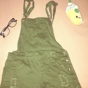 overalls, army green, totally new